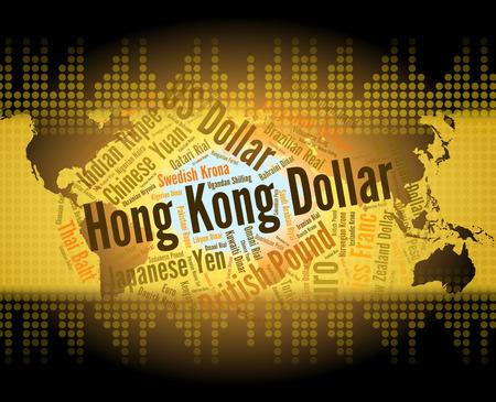 corredor de bolsa: Dólar de Hong Kong Significado Worldwide Trading Y Broker Foto de archivo