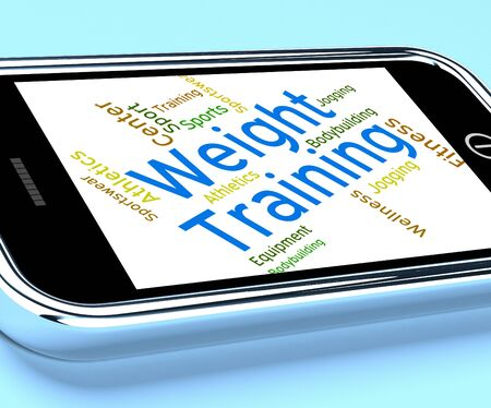 trained: Weight Training Showing Fitness Center And Trained Stock Photo