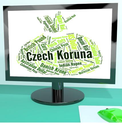 koruna: Czech Koruna Showing Exchange Rate And Coin