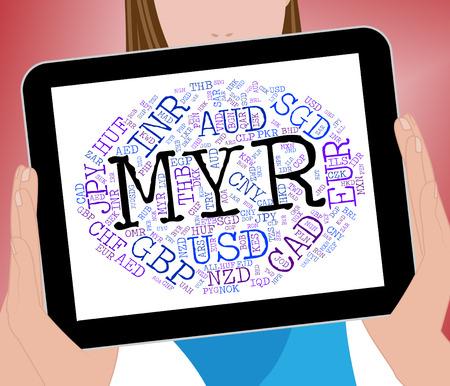 agente comercial: Myr moneda Representando Worldwide Trading Y Broker Foto de archivo