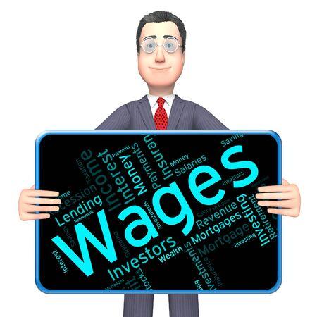 salarios: Salarios Word que muestra los ingresos que obtuvieron y se gana