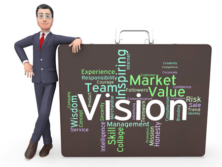 objective: Vision Word Representing Goals Plan And Objective