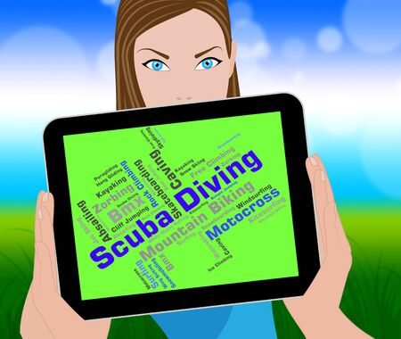 scubadiving: Scuba Diving Meaning Underwater Word And Subaqua