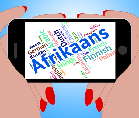 lingo: Afrikaans Word Indicating Study Language And Translate