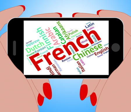 lingo: French Language Showing Translator Lingo And Speech