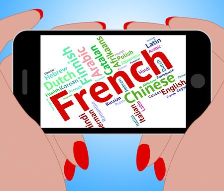 lingo: French Language Showing Translator Lingo And Speech