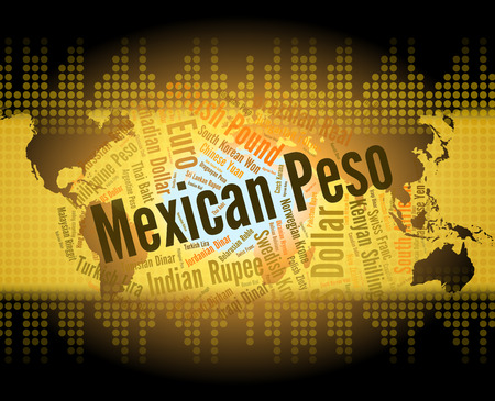 peso: Mexican Peso Indicating Mexico Pesos And Market