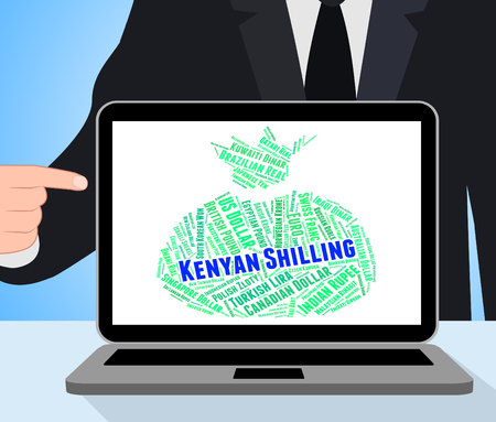 shilling: Kenyan Shilling Indicating Currency Exchange And Coin Stock Photo