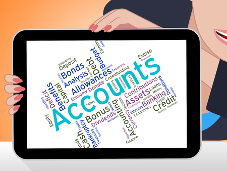 auditor: Accounts Words Representing Balancing The Books And Balance Wordcloud