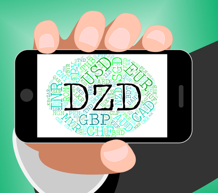 exchange rate: Dzd Currency Representing Exchange Rate And Dinar