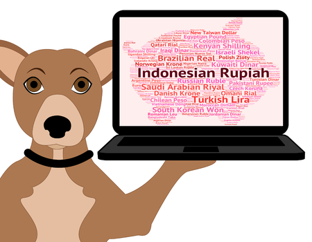 foreign exchange: Indonesian Rupiah Indicating Foreign Exchange And Words