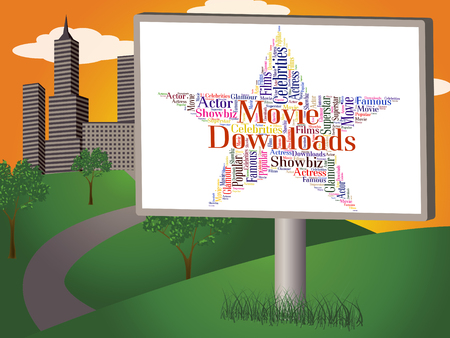 downloaded: Movie Downloads Representing Hollywood Movies And Shows