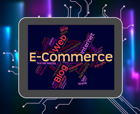 e commerce: E Commerce Representing Ecommerce Word And Internet