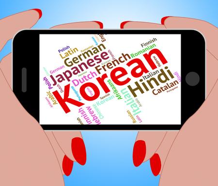 lingo: Korean Language Indicating Vocabulary Text And Translate Stock Photo