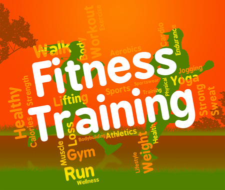 get a workout: Fitness Training Representing Physical Activity And Athletic Stock Photo