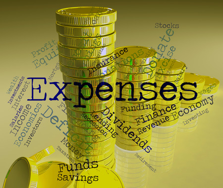 expenses: Expenses Word Indicating Outlays Finances And Words
