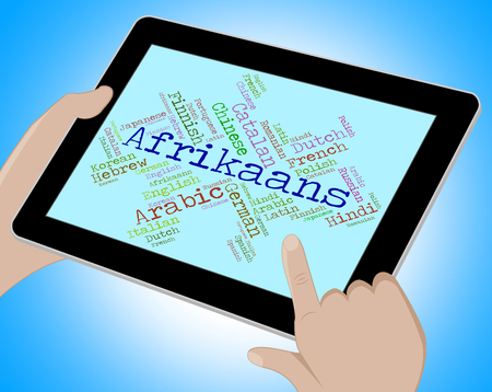 lingo: Afrikaans Language Representing South Africa And Lingo