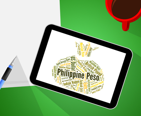 peso: Philippine Peso Showing Forex Trading And Broker Stock Photo