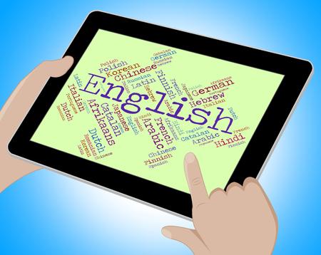 translator: English Language Meaning Britain Speech And Translator Stock Photo