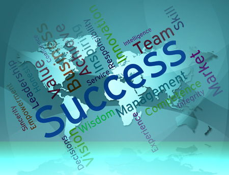 triumph: Success Words Representing Winning Triumph And Triumphant