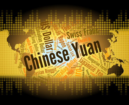 foreign currency: Chinese Yuan Representing Foreign Currency And Coinage Stock Photo