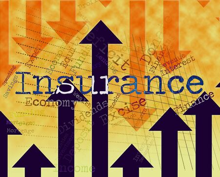 insured: Insurance Word Meaning Insured Indemnity And Indemnities Stock Photo