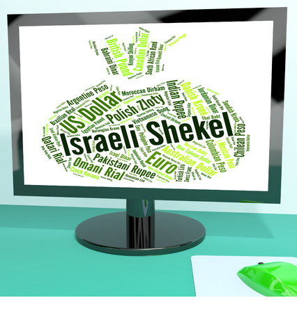 foreign currency: Israeli Shekel Meaning Foreign Currency And Banknotes Stock Photo