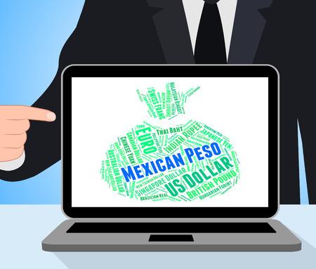 pesos: Mexican Peso Representing Forex Trading And Pesos