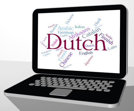translator: Dutch Language Indicating Text Foreign And Translator