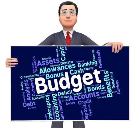 budgets: Budget Words Representing Budgets Financial And Accountant