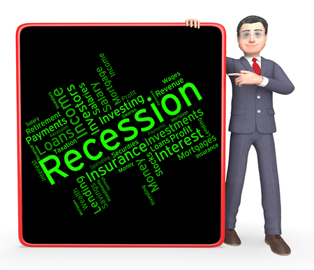 stagnation: Recession Word Meaning Recessions Depressed And Depression