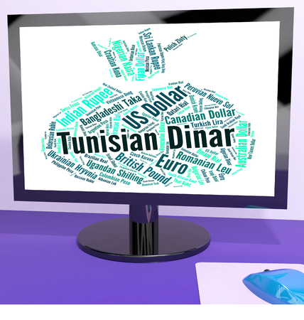 dinar: Tunisian Dinar Representing Currency Exchange And Dinars Stock Photo
