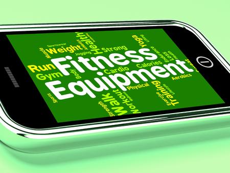 actividad fisica: Equipo de la aptitud En representaci�n de la Actividad F�sica y del texto