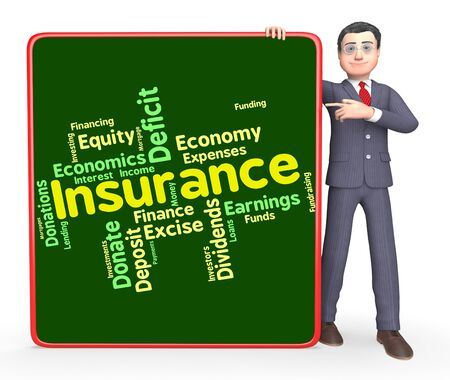wordcloud: Insurance Word Indicating Wordcloud Financial And Words