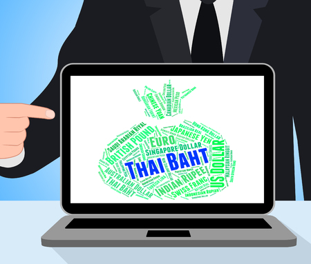 forex trading: Thai Baht Showing Forex Trading And Thb Stock Photo