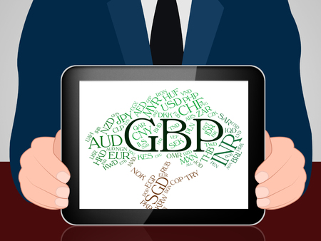 forex trading: Gbp Currency Showing Great British Pound And Forex Trading Stock Photo