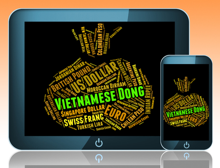 dong: Vietnamese Dong Showing Forex Trading And Currency