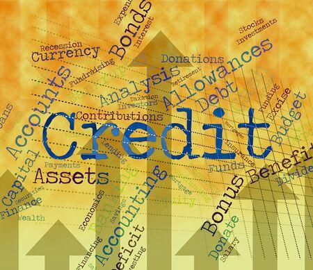 bankcard: Credit Word Representing Debit Card And Bankcard