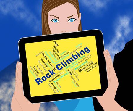 rockclimbing: Rock Climbing Indicating Climbers Outdoor And Climbs