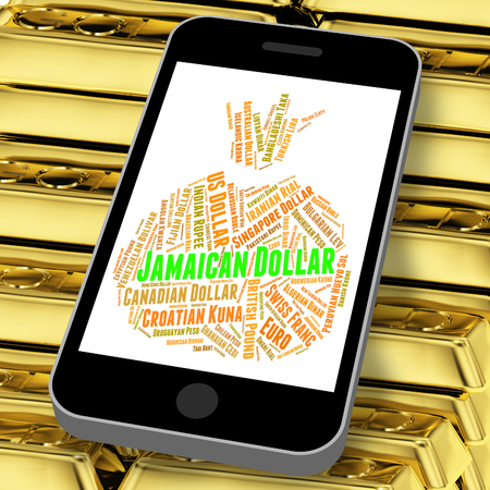 agente comercial: Jamaican Dollar Showing Exchange Rate And Broker