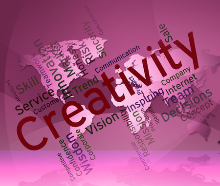 designing: Creativity Words Meaning Concept Wordcloud And Designing