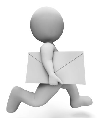 delivers: Character Letter Meaning Fast Delivery And Delivers 3d Rendering