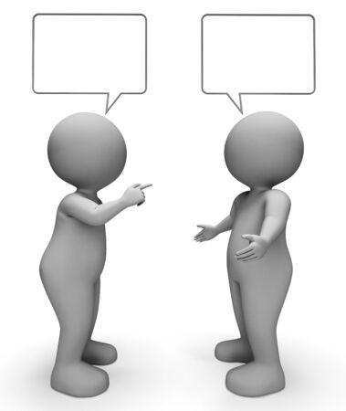 rumor: Speech Bubble Meaning Copy Space And Explain 3d Rendering Stock Photo