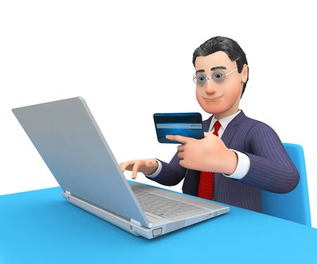 bought: Credit Card Showing World Wide Web And Business Person 3d Rendering