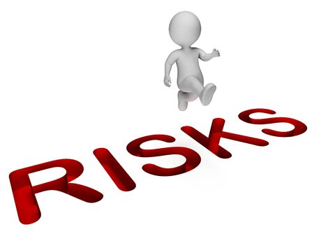 overcome: Challenge Risks Showing Hard Times And Hazards 3d Rendering