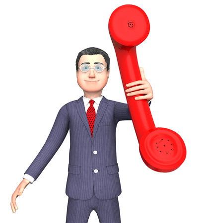 correspond: Call Talking Indicating Business Person And Debate 3d Rendering