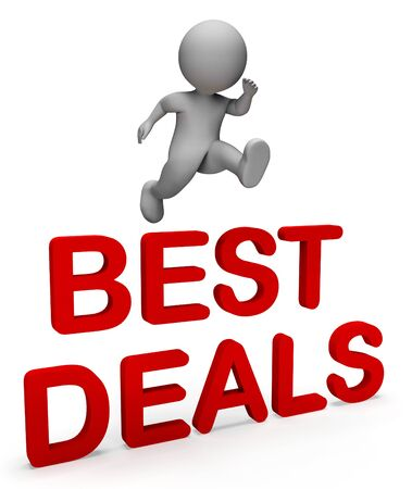 finest: Best Deals Showing Price Illustration And Savings 3d Rendering Stock Photo