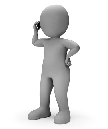 correspond: Character Calling Meaning Correspond Chat And Talked 3d Rendering Stock Photo