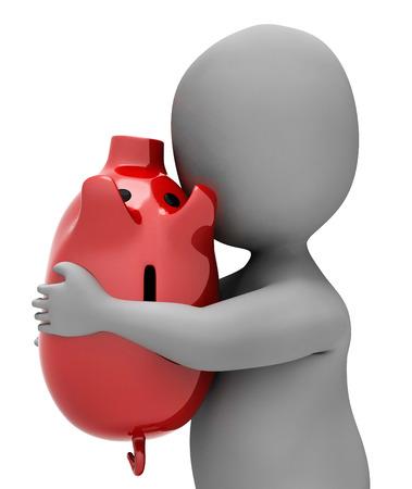 saver: Save Piggybank Meaning Render Saver And Illustration 3d Rendering