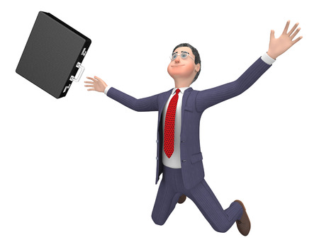 entrepreneurial: Character Falling Meaning Business Person And Render 3d Rendering